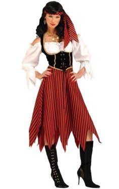 New-Halloween-Women-039-s-Pirate-Maiden-Costume-xs-s-l-standard-classic-buccaneer