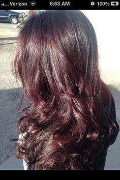 My new dark mahogany hair