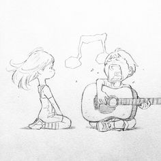 Art by Eisaku Art Manga, Anime Art, Cute Drawings, Drawing Sketches, Singing Drawing, Anime Sketch, Character Drawing, Drawing Reference, Art Tutorials