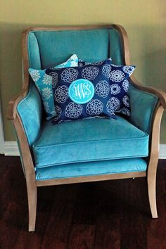 Monogrammed Throw Pillows by GiftsMonogrammed on Etsy