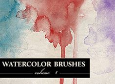 Free download-able watercolor brushes for photoshop. Consider it a gift from me to you. x