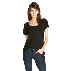 Crew Neck MicroModal Tee with Pocket - Mossimo