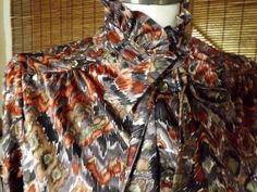 Vintage 70s Rustic Watercolor Abstract Ruffled by Calliopegirl, $30.00