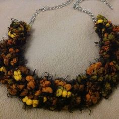 Knitted necklace -front