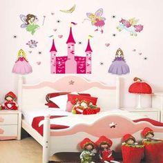 Angel Castle Wall Sticker for Kids Room