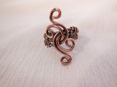 Copper Wire Ring size 7 and three fourths par Granddadshammer, $20,00