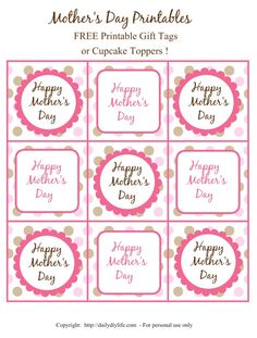 Mothers day mason jar gift ideas and free printable tags mothers day free printable gift tags or cupcake toppecccccrs dailydiylife negle Gallery