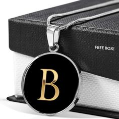 😍😍😍 This Letter B in Black Stainless Steel or Gold is the perfect gift for that Daughter, Mom or Best Friend who wants to know they are cherished 💛💛💛  This makes a great gift which can be worn to any special formal occasion or every day reminding them of the special person that gave it to them.   Comes with Free High-Quality Custom Gift Box.  100% Satisfaction Guaranteed