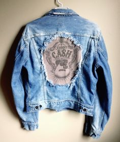 This is a one of a kind handmade vintage 90s denim jacket. Medium. We're gearing up for our 1 year anniversary celebration next month!!   Starting the first week of April we will randomly choose 1 lucky person weekly from each of our social media accounts- Tumblr, Flickr, Instagram and Pinterest - for an awesome free gift from our shop. If you're not following us yet, start now! You could win!