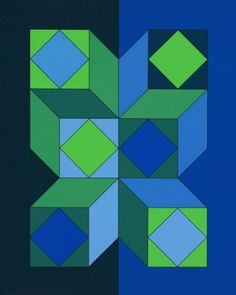 by Victor Vasarely - 1973 - Limited Edition Print - Serigraph Victor Vasarely at great prices - Buy and sell your artworks on kunzt. Victor Vasarely, Geometric Quilt, Geometric Art, Art Moderne, Oeuvre D'art, Artist Art, Les Oeuvres, Art Lessons, Design Art