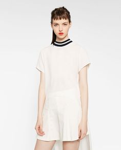 ZARA - WOMAN - LONG TOP WITH VENTS