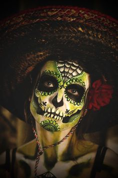 Day of the dead face painting.