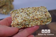 These chewy sesame seed bars are packed with superfoods, raw nuts, and natural, organic sweeteners. They are a mix of salty and sweet all in one bite!