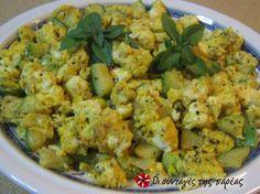 Cretan Courgette omelette ~ Κολοκυθο-ομελέτα, healthy and delicious. Omelette, Most Favorite, Greek Recipes, Potato Salad, Cauliflower, Main Dishes, Brunch, Appetizers, Gastronomia