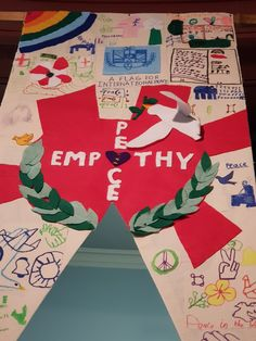 Peace and Empathy, words that were important to this group when thinking about the symbols / images they would use to represent what Peace meant to them. Peace Meaning, Leeds City, City Museum, Banners, Flag, Symbols, Group, This Or That Questions, Projects