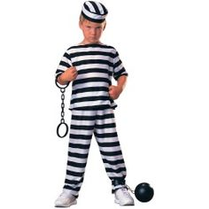 This kids prisoner costume is a fun child inmate costume for Halloween. Pair up with our kids cop costumes for a great child group Halloween costume. Scary Halloween Costumes, Boy Costumes, Baby Halloween, Career Costumes, Halloween Stuff, Children Costumes, Cosplay Costumes, Convict Costume, Shopping