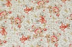 0,5 Meter of Flower Pattern Cotton Fabric