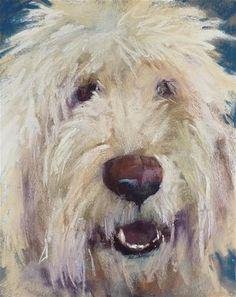 """""""Painting a Pet Portrait in Pastel"""" original fine art by Karen Margulis"""
