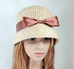 PDF - Patterns - CROCHET Hat for All year around and for crochet flower
