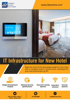 We help design IT infrastructure that is most suitable for your hotels. We also take care of hardware procurement processes supplying all the necessary hardware required to run your IT systems. Innovation Strategy, Procurement Process, Dubai Hotel, Business Technology, New Builds, Budgeting, Hotels, Hardware, Design