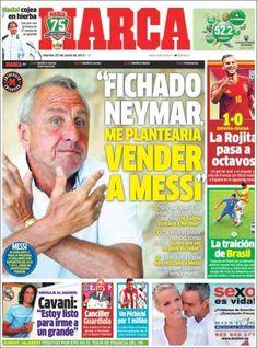 Los Titulares y Portadas de Noticias Destacadas Españolas del 25 de Junio de 2013 del Diario Deportivo Marca ¿Que le parecio esta Portada de este Diario Español?