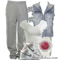 Cute after school outfit.