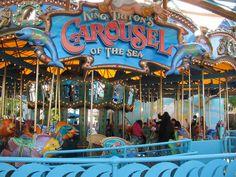 King Triton's Carousel!!! Paradise Pier - Disney's California Adventure