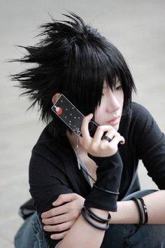 XD modern sasuke cosplay this is cute :D