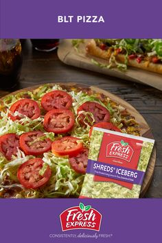 The classic BLT sandwich also makes a delicious pizza. Fruit In Season, Summer Food, Pizza Recipes, Summer Recipes, Mozzarella, Cheddar, Organize, Sandwiches