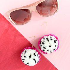 A Kailo Chic Life: Make It - Dragon Fruit Pom Pom Earrings