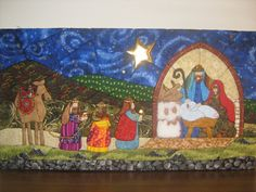 Artesanías: Pesebres (Patchwork sin aguja) Felt Christmas Ornaments, Christmas Art, Woolen Craft, Christmas Staircase, Patchwork Tutorial, Nativity Crafts, Fabric Pictures, Fabric Crafts, Quilts