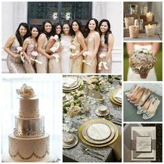 Mixed Metallic Wedding Inspiration from Burgh Brides