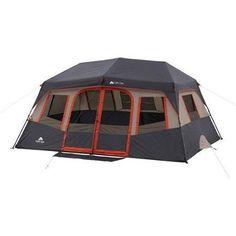Ozark Trail Instant Cabin Tent  sc 1 st  Pinterest & Ozark Trail 16u0027 x 16u0027 Instant Cabin Tent Sleeps 12 - Walmart.com ...
