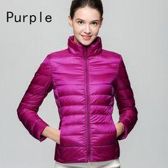 90 % White Duck Down Parkas Ultra Light Jackets Zipper Coats Short Outwear Parka
