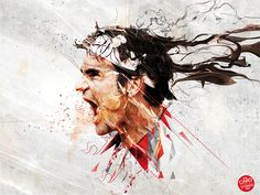 Roger Federer by Caroline Blanchet/Nantes, France via Behance.