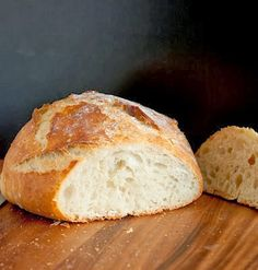 Crusty Rustic Bread {It's No Knead!} Recipe Crusty Rustic Bread {It's No Knead!} Recipe Try Crusty Rustic Bread {It's No Knead! You& just need 3 cups all-purpose flour, 1 tsp salt, tsp active dry yeast, 1 cups warm water (about. Bagels, Loaf Recipes, Cooking Recipes, Dutch Oven Bread, Rustic Bread, No Knead Bread, Ciabatta, Artisan Bread, Bread Baking