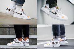 the latest b44b8 fc75d Nike Air Force 1 07 Low JDI Just Do It Pack White On Feet