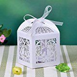 50pcs Laser Cut Wedding Sweets Love Bird Wedding Favor Candy Gifts Boxes Box Bomboniere with Ribbons Bridal Shower Wedding Party Favors White by Boxcute by Boxcute  (90)Buy new:   £1.80 19 used & new from £1.80(Visit the Bestsellers in Home & Garden list for authoritative information on this product's current rank.) Amazon.co.uk: Bestsellers in Home & Garden...