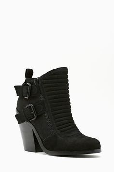Shoe Cult Outlaw Buckled Boot in Black