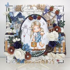 Great cards at eulandasilvey.blogspot.com. Great use of textures and embellishments.
