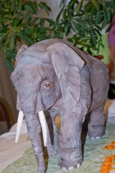 "Another ""blows my mind"" cake........African Elephant Cake By aimeesings on CakeCentral.com"