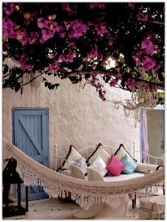 Ideas Pergola Tuin Hangmat For 2019 Outdoor Rooms, Outdoor Gardens, Outdoor Living, Outdoor Decor, Outdoor Daybed, Outdoor Furniture, Plywood Furniture, Home And Deco, My Dream Home