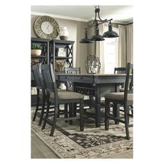 Tyler Creek Dining Room Counter Table Brown/Black - Signature Design By Ashley : Target Brown Bar Stools, Counter Height Dining Table, Patio Dining, Dining Room Table, Kitchen Dining, Ashley Furniture Industries, Signature Design, Dining Furniture, Farm Life