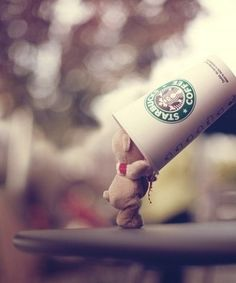 Even the little guy loves coffee = )