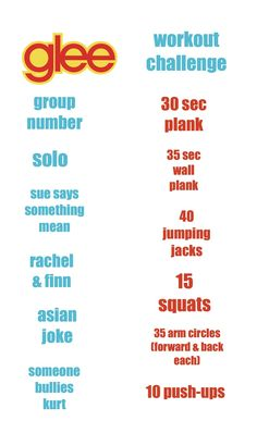 Glee Workout!