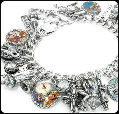 In my charm bracelet store you will find a large selection of silver charm bracelets, Tinkerbell charm bracelet, Peter Pan Jewelry, charm necklaces, drop earrings and Unitarian Church jewelry, as well
