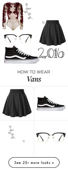 """"""""""" by jordanlowlife11 on Polyvore featuring Vans, GlassesUSA and Jeweliq"""