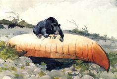 Winslow Homer, Bear on Canoe