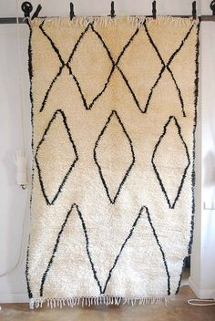 vintage moroccan beni ourain carpet  spotted on flickr