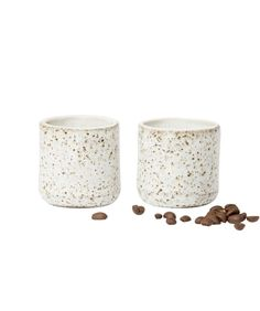 Jimmy Ceramic Espresso Cups Set of 2 - Vases & Vessels - Decor - Homewares
